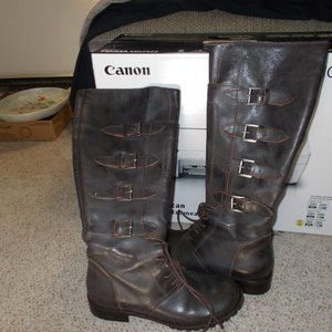 Matisse leather knee high boots womens 6 1/2 new !